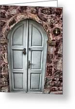 Door In Santorini Greeting Card by Tom Prendergast