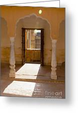 Doorway And Arch In The Amber Fort Greeting Card by Inti St. Clair