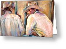 Dos Amigos Greeting Card by Joan  Jones