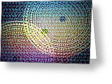 Dots Circles Greeting Card by Atiketta Sangasaeng