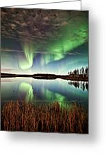 Double Reflections Greeting Card by Ronald Lafleur