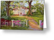 Down Near Mcclellanville Greeting Card by Jane Woodward
