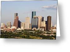 Downtown Houston Skyline Greeting Card by Jeremy Woodhouse