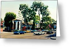 Downtown Laguna Beach Greeting Card by Frank Dalton