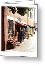 Downtown Newburyport Greeting Card by Anthony Ross