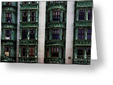 Downtown San Francisco Greeting Card by Bob Christopher