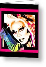 Drag And Stilettos Greeting Card by Samuel Veta