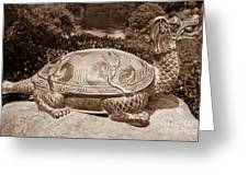 Dragon Turtle Figure Greeting Card by Yurix Sardinelly