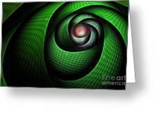 Dragons Eye Greeting Card by John Edwards