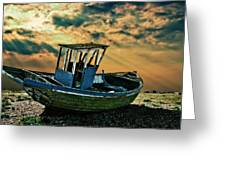 Dramatic Dungeness Greeting Card by Meirion Matthias