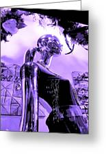 Dreams In Shades Of Purple Greeting Card by Kym Backland