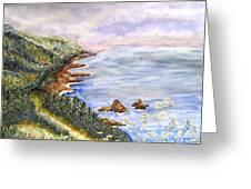 Dreamy Coast Greeting Card by DJ Laughlin