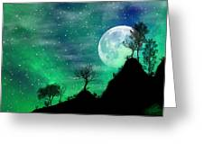 Dreamy Night Greeting Card by Anthony Citro