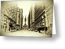 Dreamy Philadelphia Greeting Card by Bill Cannon