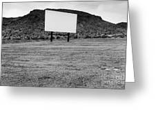 Drive In Movie Theater Greeting Card by Homer Sykes