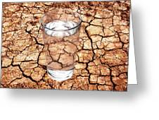 Drought Greeting Card by Victor De Schwanberg