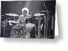 Drumming Greeting Card by Traci Cottingham