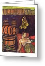 Drunken Arousal Greeting Card by Melinda English