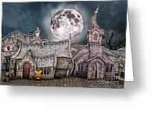 Drunken Village Greeting Card by Jutta Maria Pusl