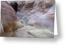 Dry Creek Bed 3 Greeting Card by Bob Christopher