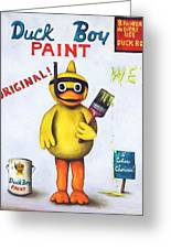 Duck Boy Paint Greeting Card by Leah Saulnier The Painting Maniac