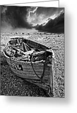 Dungeness Decay Greeting Card by Meirion Matthias