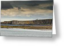 Dunstanburgh Castle On A Hill Under A Greeting Card by John Short