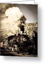 Durango - Silverton Railroad Greeting Card by Adam Pender