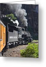 Durango And Silverton Historic Train Greeting Card by Stuart Wilson and Photo Researchers