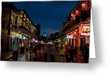 Dusk On Bourbon Street Greeting Card by Bourbon  Street