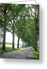 Dutch Road - Digital Painting Greeting Card by Carol Groenen