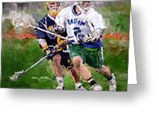 Eagan Midfielder Greeting Card by Scott Melby