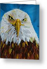 Eagle Greeting Card by Ismeta Gruenwald