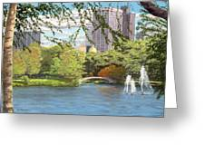 Early Color On Esplanade Greeting Card by William Frew