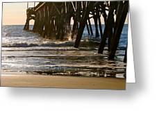 Early Dawn At The Pier Greeting Card by Deborah M Rinaldi-Roberts