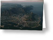Early Morning Aerial View Of Cape Town Greeting Card by James L. Stanfield