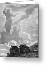 Early Sighting Of Brocken Spectres, 1797 Greeting Card by