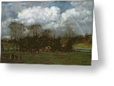 Early Spring Greeting Card by Hans Thoma