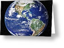 Earth From Space, Satellite Image Greeting Card by Nasa Goddard Space Flight Center (nasa-gsfc)