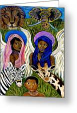 Earthangels Abeni And Adesina From Africa Greeting Card by The Art With A Heart By Charlotte Phillips