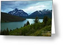 East Glacier Greeting Card by Jeff  Swan
