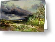 East Hamptonlong Island Sand Dunes Greeting Card by Thomas Moran