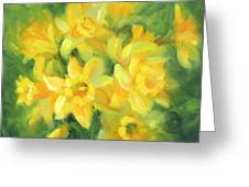 Easter Daffodils Greeting Card by Karin  Leonard