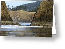 Ecola From Chapman Pt. Greeting Card by Steven A Bash