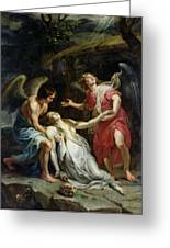 Ecstasy Of Mary Magdalene Greeting Card by Peter Paul Rubens