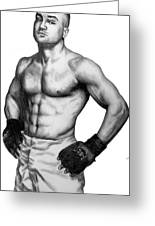 Eddie Alvarez Greeting Card by Audrey Snead