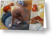 Edgar Degas: The Tub, 1886 Greeting Card by Granger