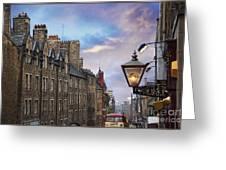 Edinburgh Mile Greeting Card by Jeanne  Woods