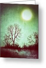 Eerie Landscape Greeting Card by Jill Battaglia