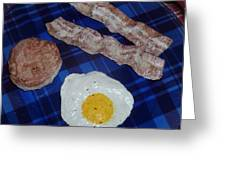 Egg And Bacon Breakfast With A Biscuit Greeting Card by Paula  Smith